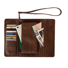 Load image into Gallery viewer, Dark Brown Conquest Travel Wallet