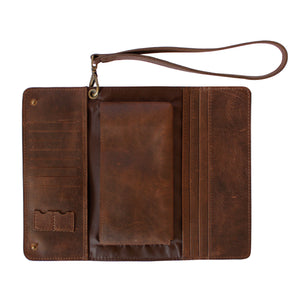Dark Brown Conquest Travel Wallet