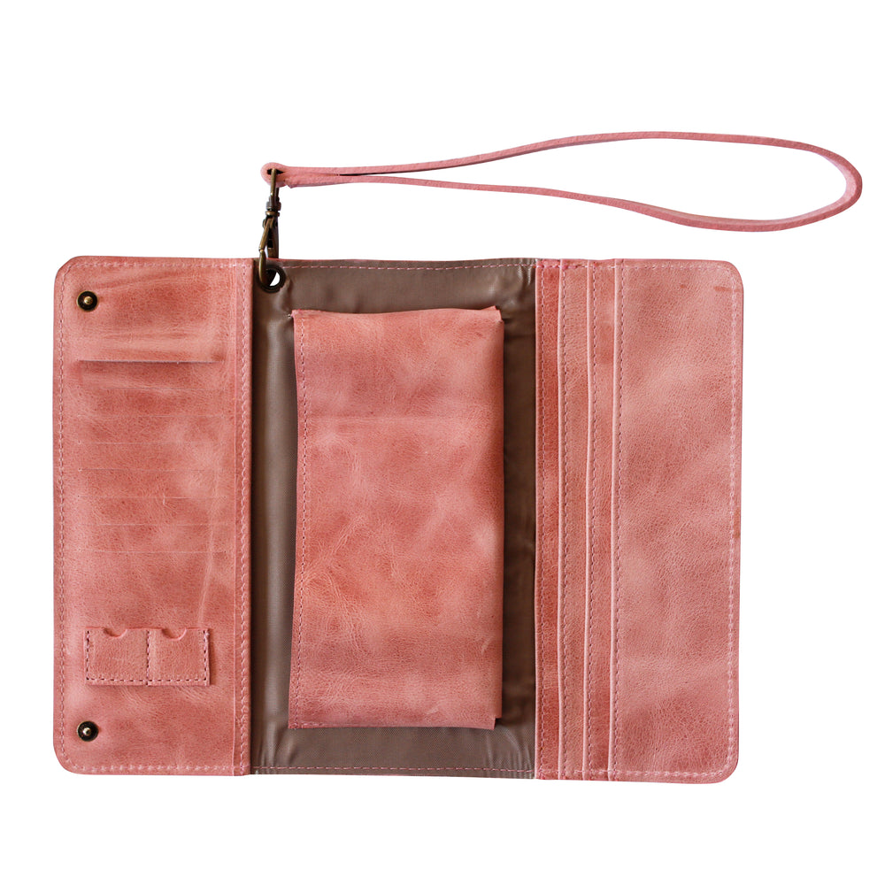 Dusty Pink Conquest Travel Wallet-Escape Society