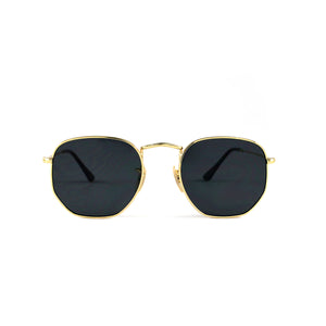 Gold Vintage Hexagon Lens With Metal Frame - Escape Society