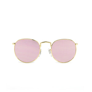 Gold Vintage Round Lens With Pink Lens - Escape Society