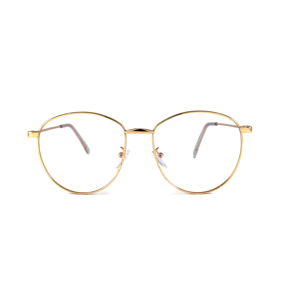 Clear Lens Oval With Gold Frame - Escape Society