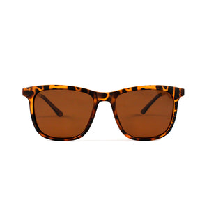 Tortoise Shell  Squared Off Retro With Gold Temple - Escape Society