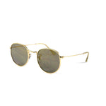 Gold Vintage Round Lens With Tonal Gradient Lens