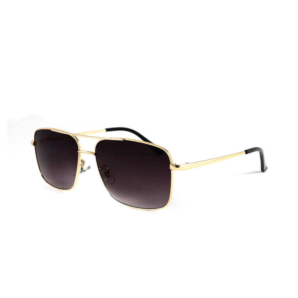Square Metal Frame Aviator With Smoke Lens
