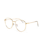 Clear Lens Oval With Gold Frame