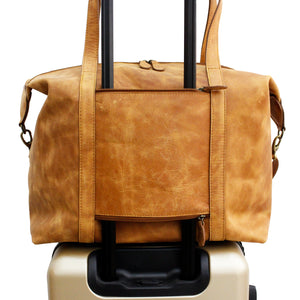 Tan Full Grain Leather Nomadic Weekender - Escape Society
