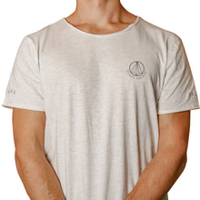 Load image into Gallery viewer, Light Grey Melange Loose Fit Men's Slogan Tee