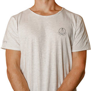 Light Grey Melange Loose Fit Men's Slogan Tee