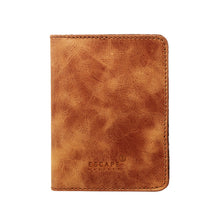 Load image into Gallery viewer, Tan Genuine Leather Passport Holder - Escape Society