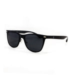 Matte Black Aluminium Squared Off Retro Sunglasses