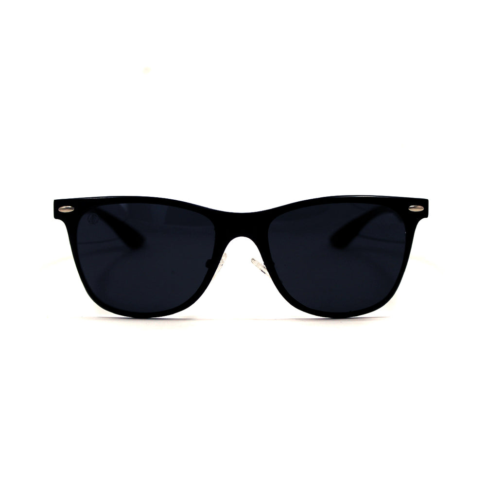 Matte Black Aluminium Squared Off Retro Sunglasses - Escape Society