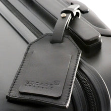 Load image into Gallery viewer, Black Genuine Leather Luggage Tag - Escape Society