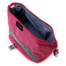 Load image into Gallery viewer, Pink Double-Deck Toiletry Bag - Escape Society