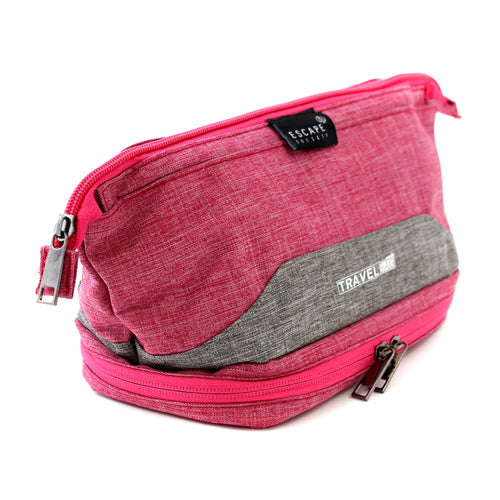 Pink Double-Deck Toiletry Bag - Escape Society