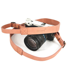 Load image into Gallery viewer, Dusty Pink Camera Genuine Leather Camera Sling - Escape Society