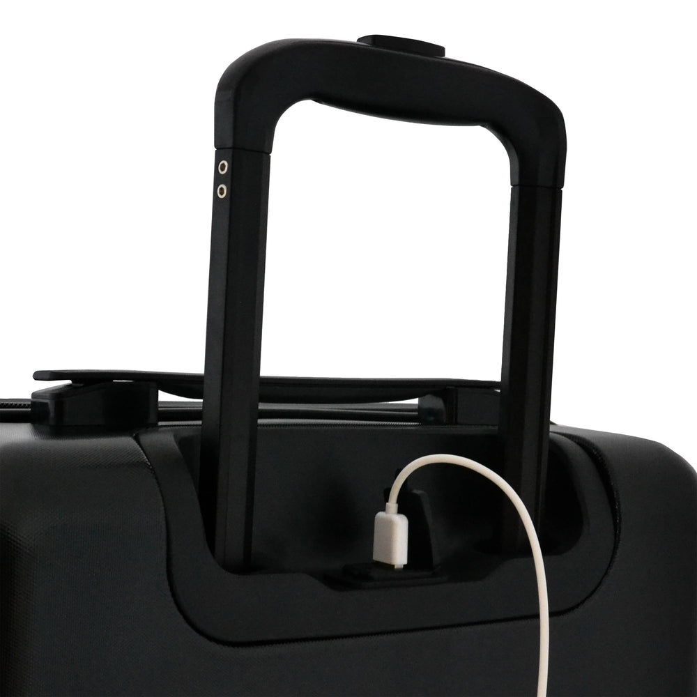 Matte Black Carry-On Suitcase