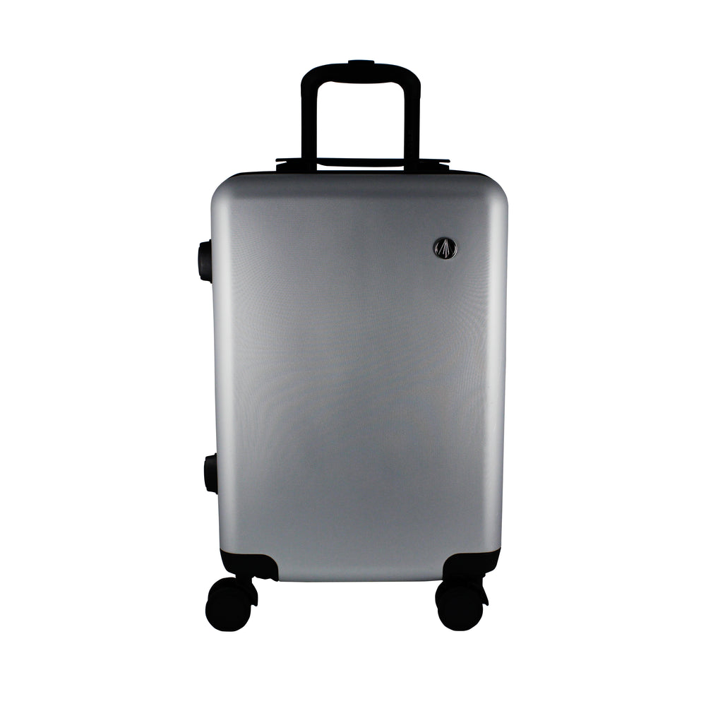Matte Silver Carry-On Suitcase