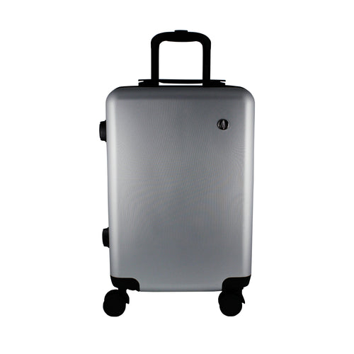 Matte Silver Carry-On Suitcase - Escape Society