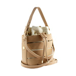 Nude Peek-A-Boo Bucket Bag