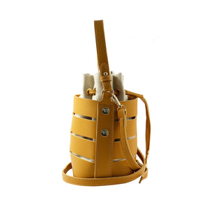 Mustard Yellow Peek-A-Boo Bucket Bag - Escape Society