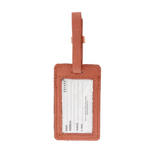 Load image into Gallery viewer, Dusty Pink Utility Leather Luggage Tag - Escape Society