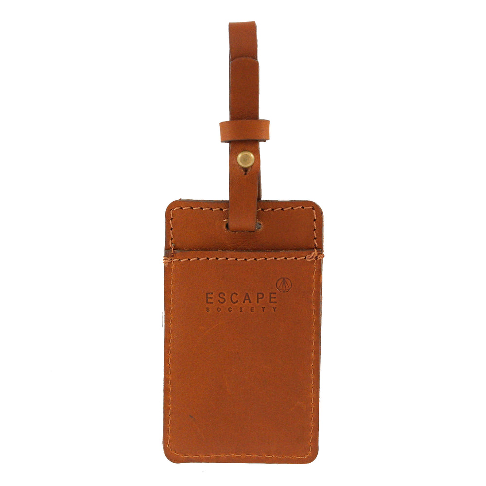 Tan Utility Leather Luggage Tag