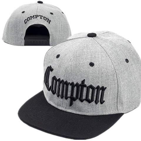 Compton embroidery Hip Hop Fashion adjustable Cotton snapback Hat