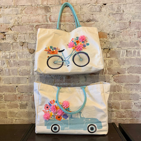 Flower Market Tote Bags