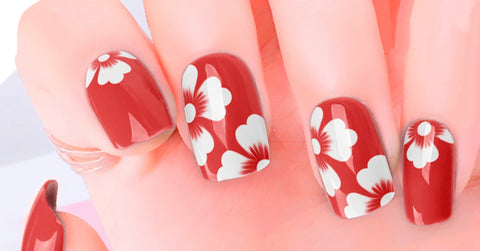 Hibiscus Nail Polish Stickers