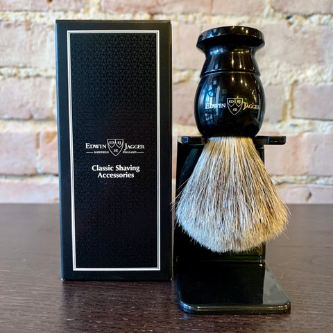 Edwin Jagger Shaving Brush – Ebony Best Badger