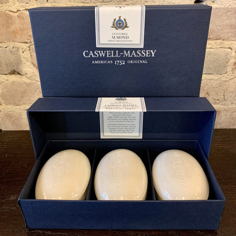 Caswell-Massey Centuries Almond Three-Soap Set