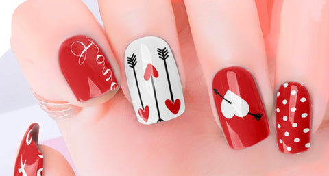 Heart Arrow Nail Polish Wraps