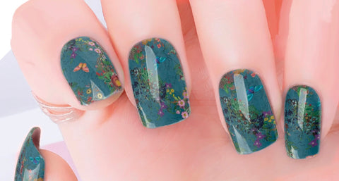 Garden View Nail Polish Stickers