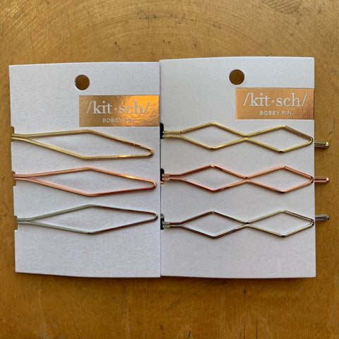 Kitsch Diamond Bobby Pins 3pc Set