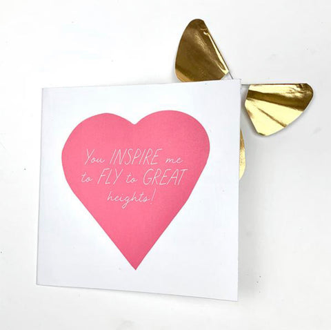 Happy Mother's Day Card With Magic Butterfly