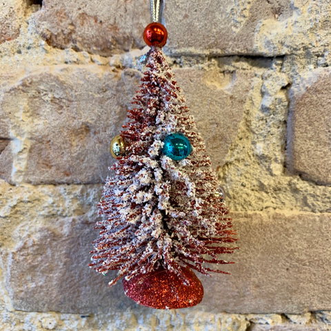 Frosted Vintage Tree Ornament