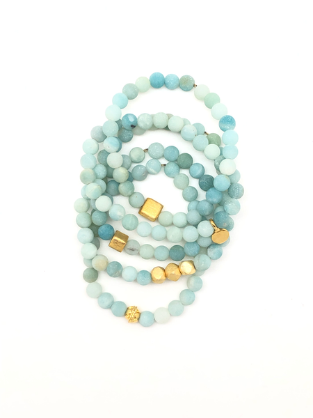 Light Blue Matte Aventurine Bracelet 6mm