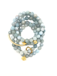 Light Blue Aquamarine Faceted Bracelet 8mm