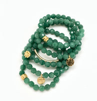 Jade Aventurine Faceted Bracelet 8mm