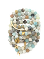 Matte Beachy Blue Agate Bracelet 8mm