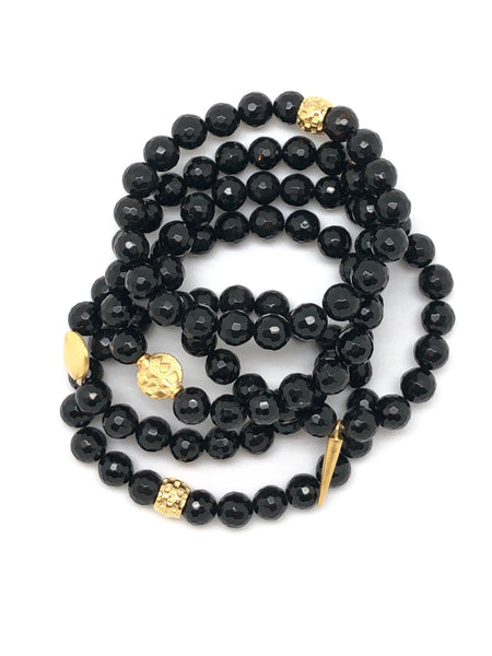 Black Onyx Faceted Bracelet 8mm