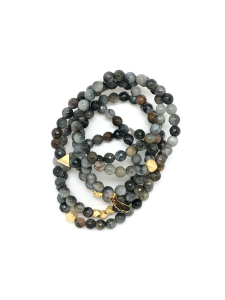 Eagle Eye Jasper Faceted Bracelet 6mm