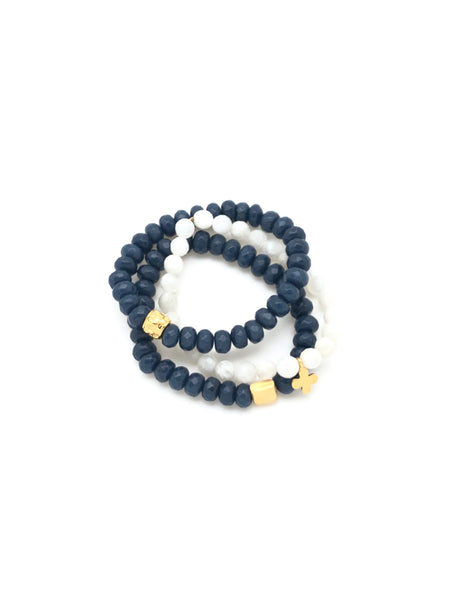 Periwinkle Blue & Moonstone - Stack of 3