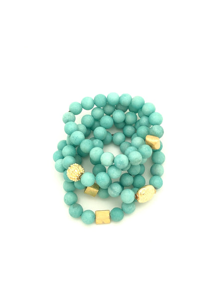 Sea Foam Blue Matte Amazonite 10mm