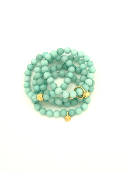 Sea Foam Matte Amazonite Blue 8mm