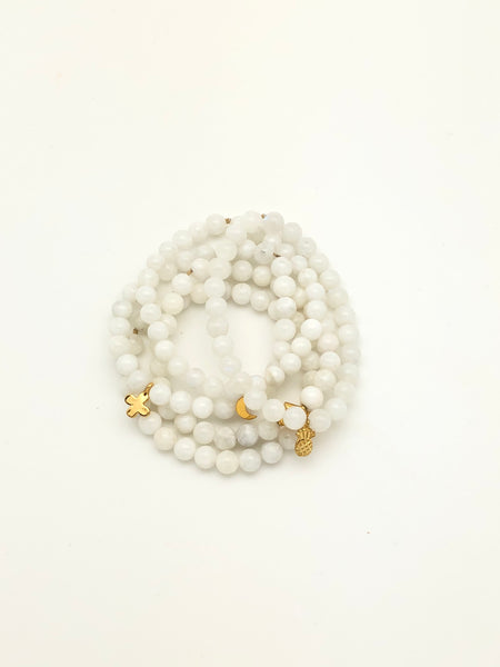 White Moonstone 6mm