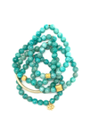 Bright Turquoise Faceted Bracelet 7mm