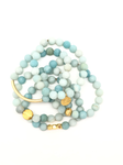 Light Blue Matte Aventurine Bracelet 8mm