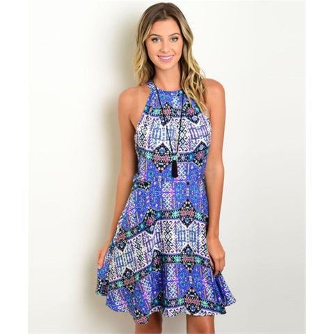 Women's Casual Sleeveless Printed Summer Dress - LUNAP Co